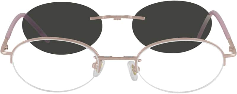 WomenHalf RimMetalEyeglasses #580514