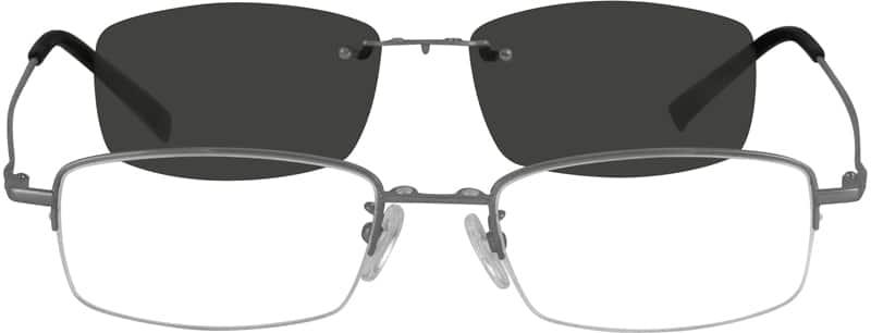 MenHalf RimStainless SteelEyeglasses #581121