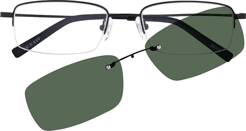 Men Half Rim Stainless Steel Eyeglasses #581111