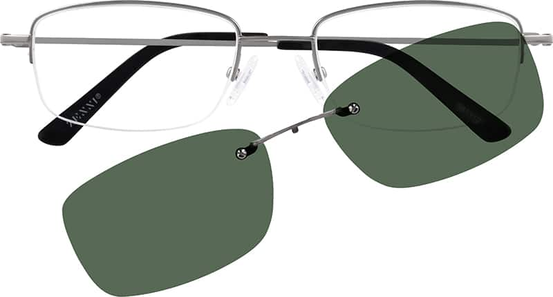 MenHalf RimMetalEyeglasses #581312
