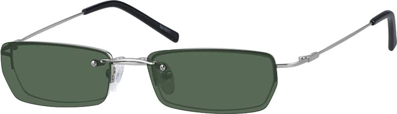 Half Rim Stainless Steel with Polarized Magnetic Snap-on Sunlens