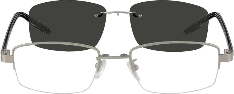 MenHalf RimMixed MaterialsEyeglasses #581621