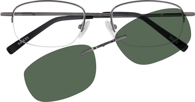 MenHalf RimMetalEyeglasses #583212