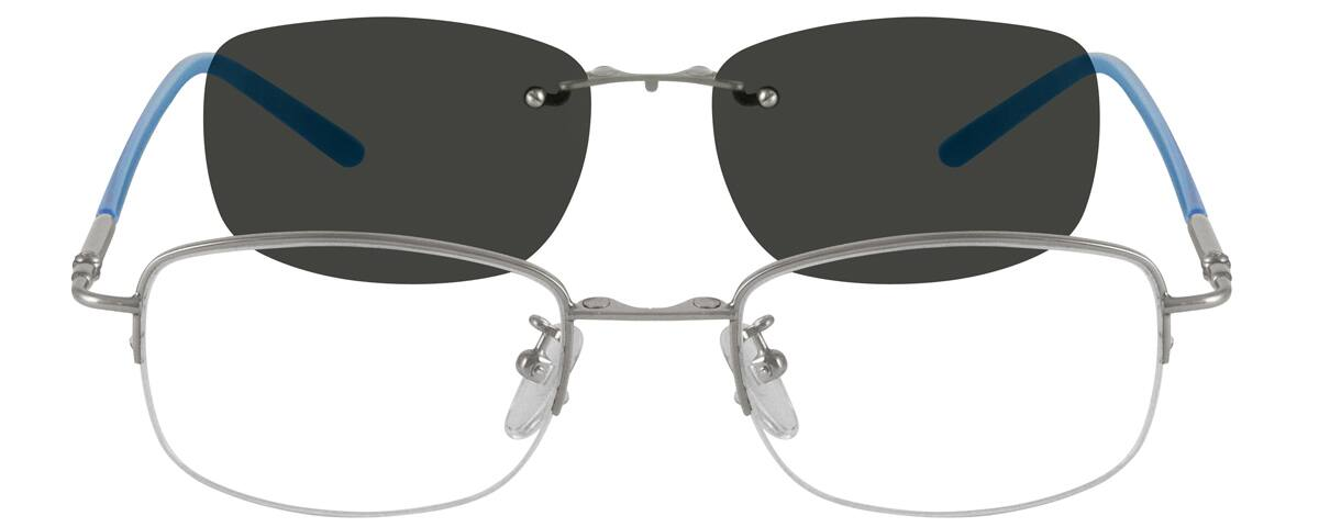 MenHalf RimMetalEyeglasses #583621