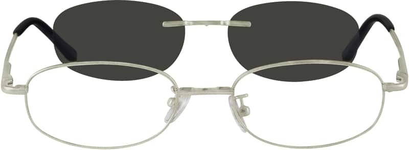 Unisex Full Rim Metal Eyeglasses #584312