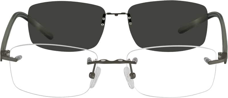 MenRimlessMixed MaterialsEyeglasses #584511