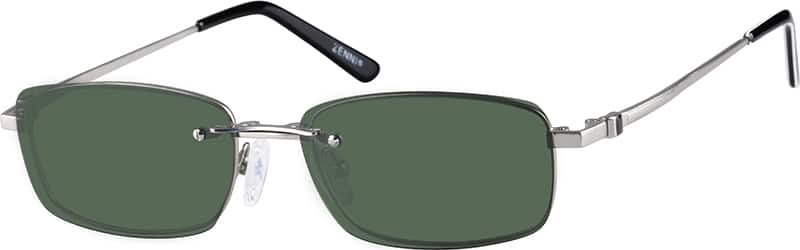 Metal Alloy Frame with Polarized Magnetic Snap-on Sunlens