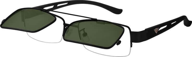 MenHalf RimMixed MaterialsEyeglasses #585911