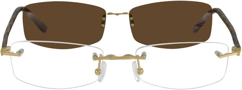 UnisexRimlessMixed MaterialsEyeglasses #587021