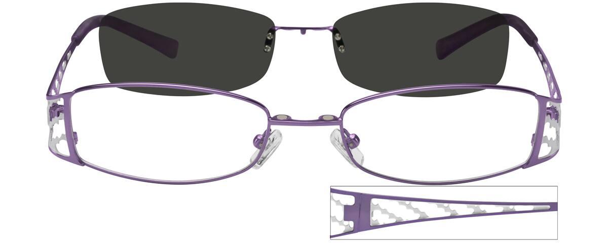 WomenFull RimStainless SteelEyeglasses #588121