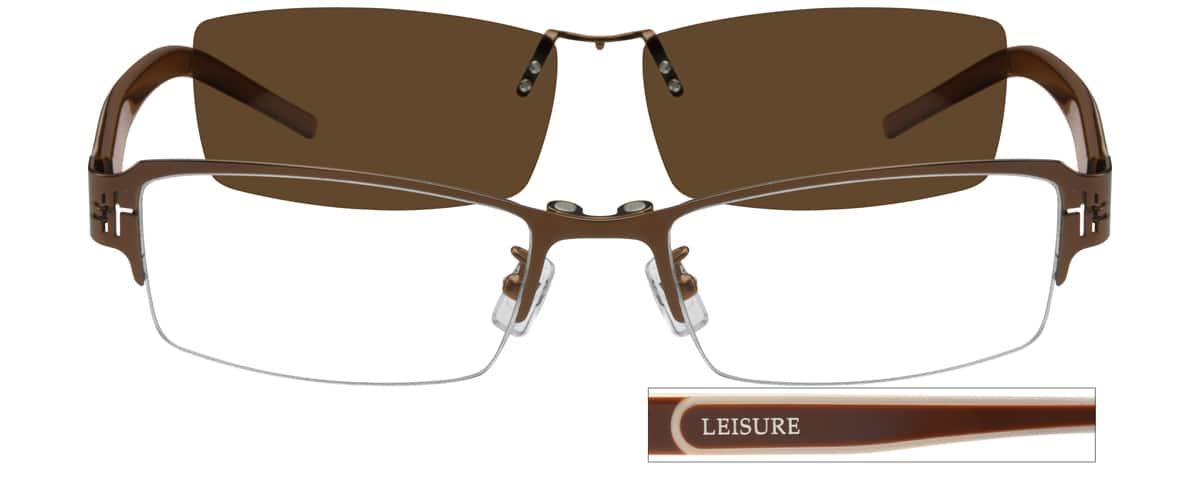 MenHalf RimMixed MaterialsEyeglasses #588321