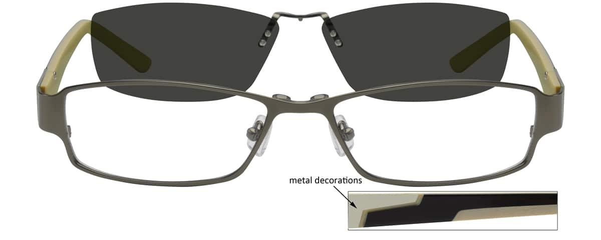 MenFull RimMixed MaterialsEyeglasses #588521