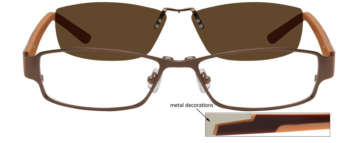 Men Full Rim Mixed Materials Eyeglasses #588521