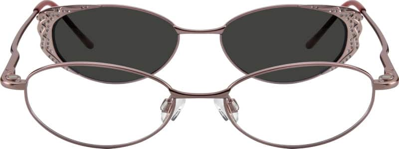 Metal Alloy Spring Hinge Full-Rim Frame with Polarized Magnetic Snap-on Sunlens