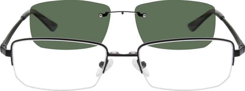 MenHalf RimStainless SteelEyeglasses #589312
