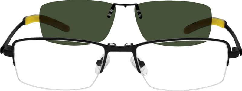 MenHalf RimStainless SteelEyeglasses #589521