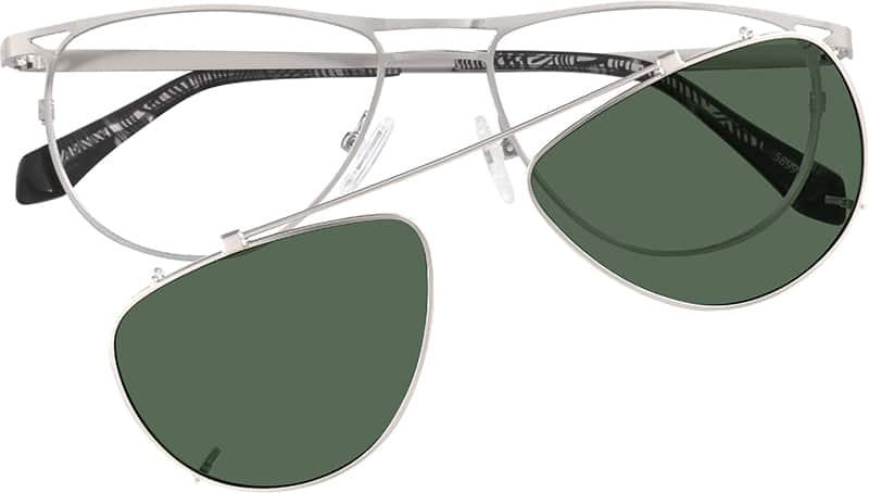 UnisexFull RimStainless SteelEyeglasses #589911