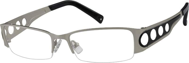 MenHalf RimMetalEyeglasses #590021