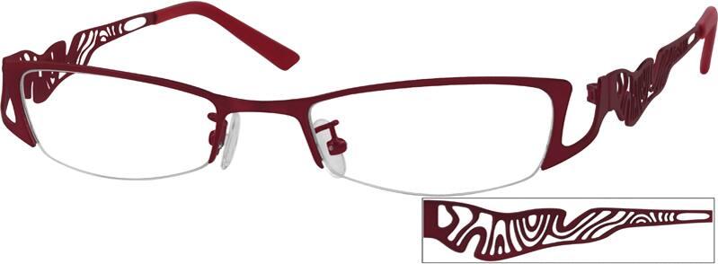 WomenHalf RimMetalEyeglasses #592121