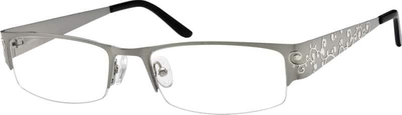 WomenHalf RimStainless SteelEyeglasses #593415