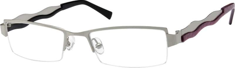 Men Half Rim Stainless Steel Eyeglasses #594311