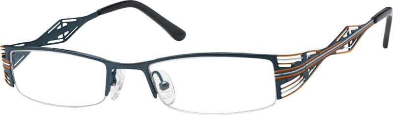 WomenHalf RimStainless SteelEyeglasses #594516