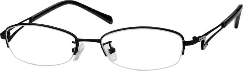 WomenHalf RimStainless SteelEyeglasses #595718