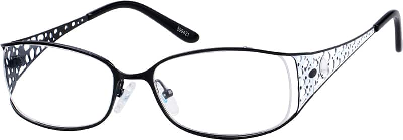 Partial Rim Stainless Steel Frame with Designer Temples