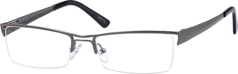 MenHalf RimStainless SteelEyeglasses #599712
