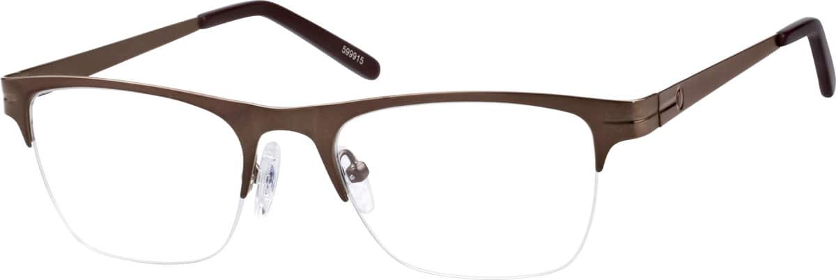 Black Half-Rim Eyeglasses #5999 Zenni Optical Eyeglasses