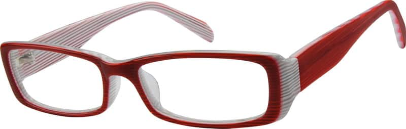 Acetate Full-Rim Frame with Design on Temples