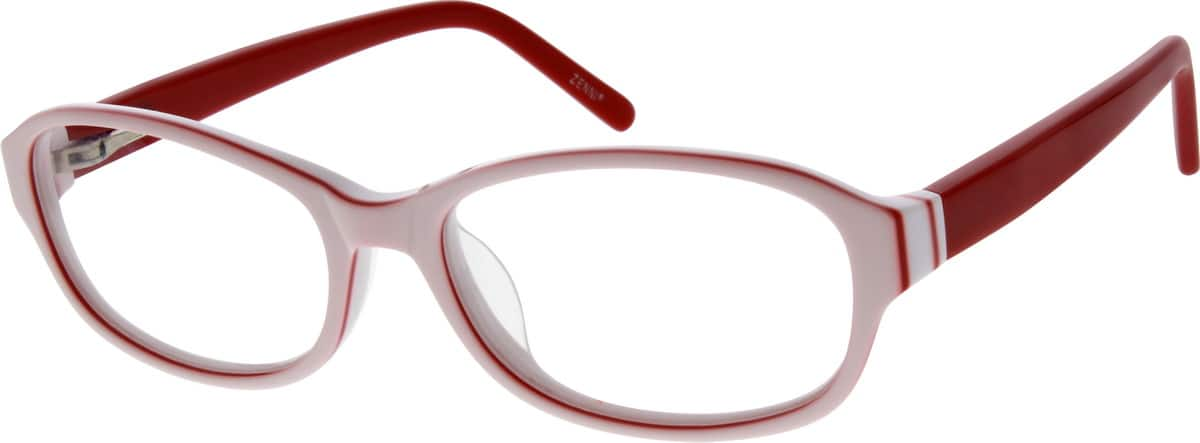 red and white frames