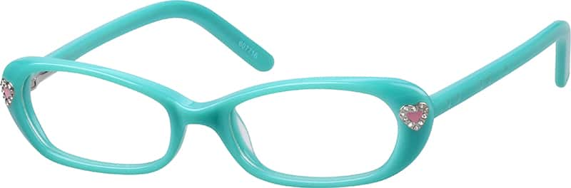 Girl Full Rim Acetate/Plastic Eyeglasses #607716