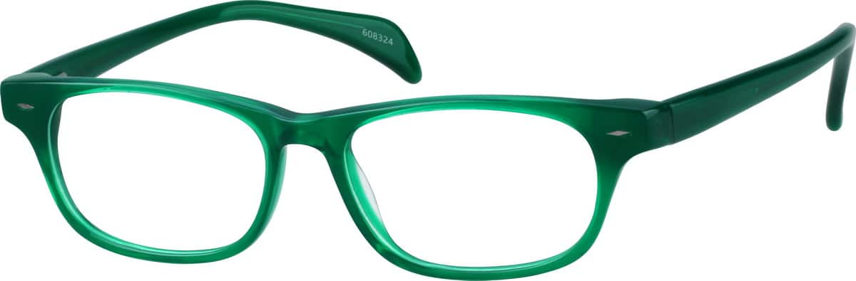 Green6083  Acetate Full-Rim Frame  with Spring Hinges