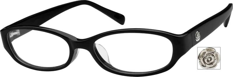 Women Full Rim Acetate/Plastic Eyeglasses #611021