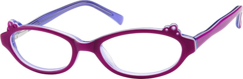 Girl Full Rim Acetate/Plastic Eyeglasses #611117