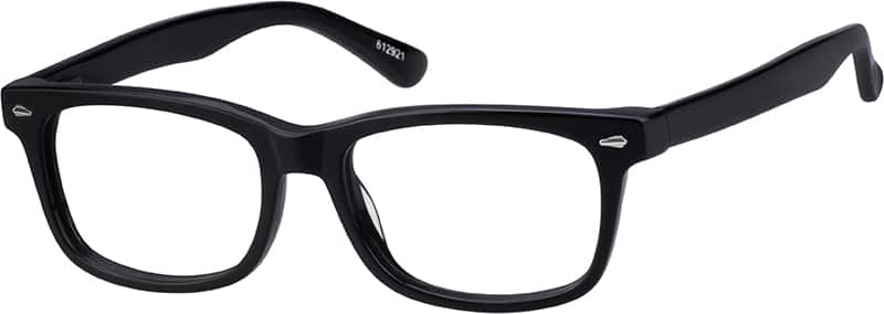 Black 6129 Acetate Full-Rim Frame