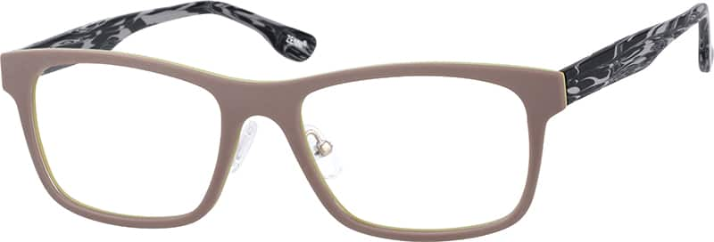 Plastic Full-Rim Frame with Acetate Temples