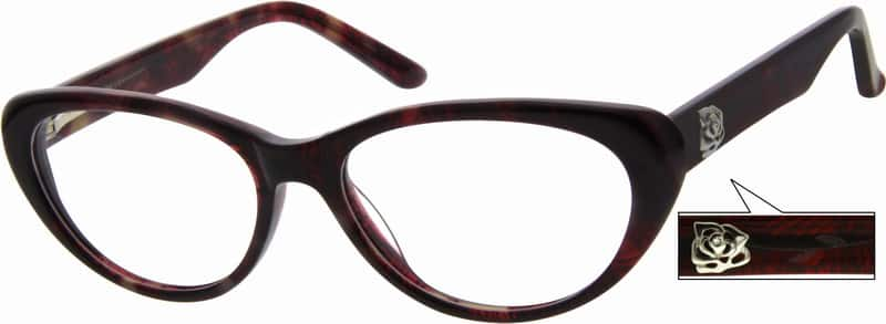 Women Full Rim Acetate/Plastic Eyeglasses #622722