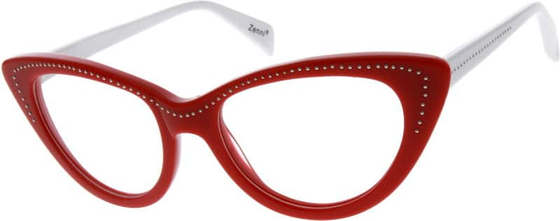 Red Acetate Full-Rim Frame #6256 Zenni Optical Eyeglasses