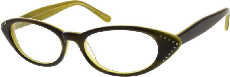 Women Full Rim Acetate/Plastic Eyeglasses #628424