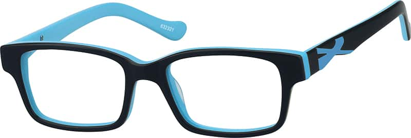 Boy Full Rim Acetate/Plastic Eyeglasses #632316