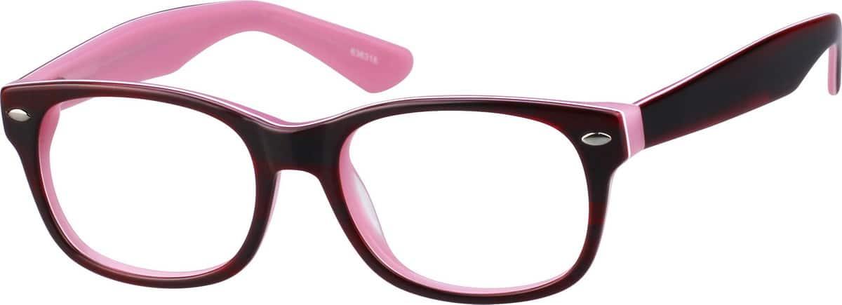 GirlFull RimAcetate/PlasticEyeglasses #636321