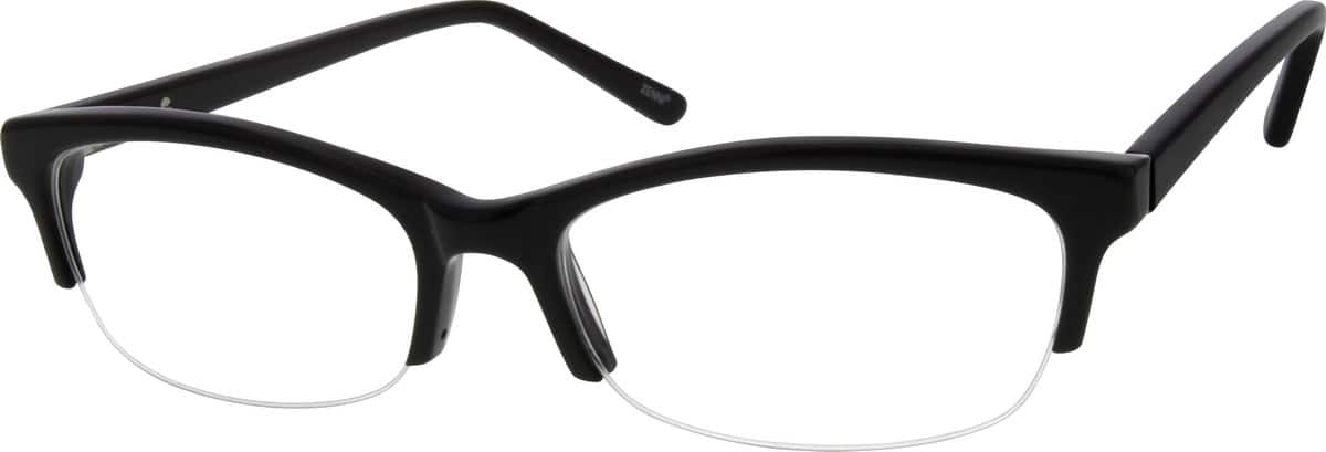 Men Half Rim Acetate/Plastic Eyeglasses #636821
