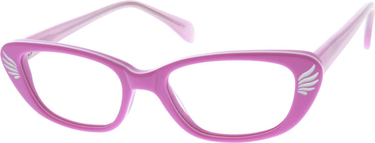 GirlFull RimAcetate/PlasticEyeglasses #637117