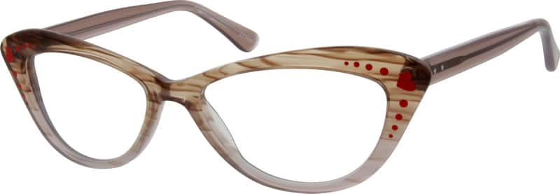 Brown Acetate Full-Rim Frame #6383 Zenni Optical Eyeglasses