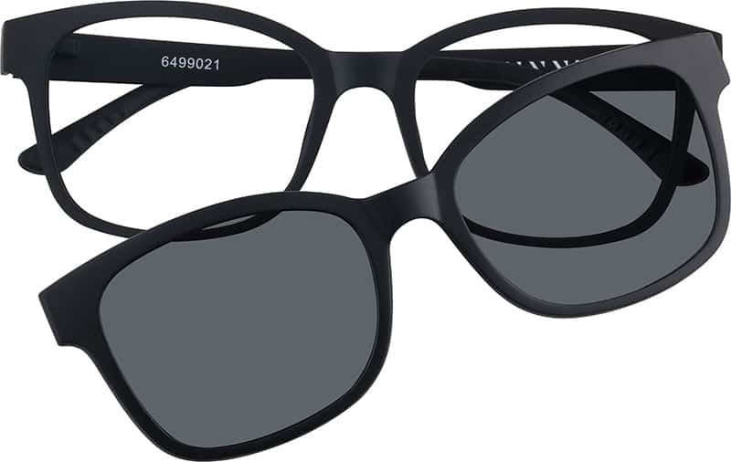 Eyeglasses With Magnetic Sunglasses  black square eyeglasses with magnetic snap on shades 64990