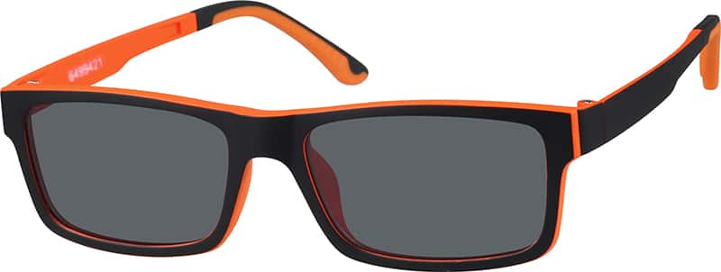 Rectangle Eyeglasses with Magnetic Snap-On Shades