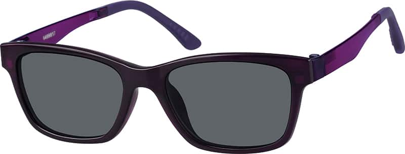 Cat-Eye Eyeglasses with Magnetic Snap-On Shades