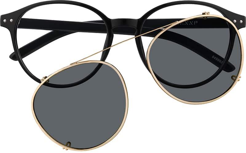 Zenni Optical Aviator Glasses : Black Round Aviator Eyeglasses #64999 Zenni Optical ...